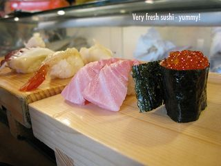 Fresh sushi from Sushi Zanmai